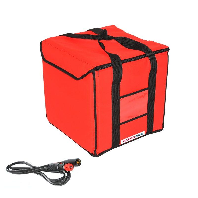 Menu taška 35x35x35 cm vyhřívaná červená
