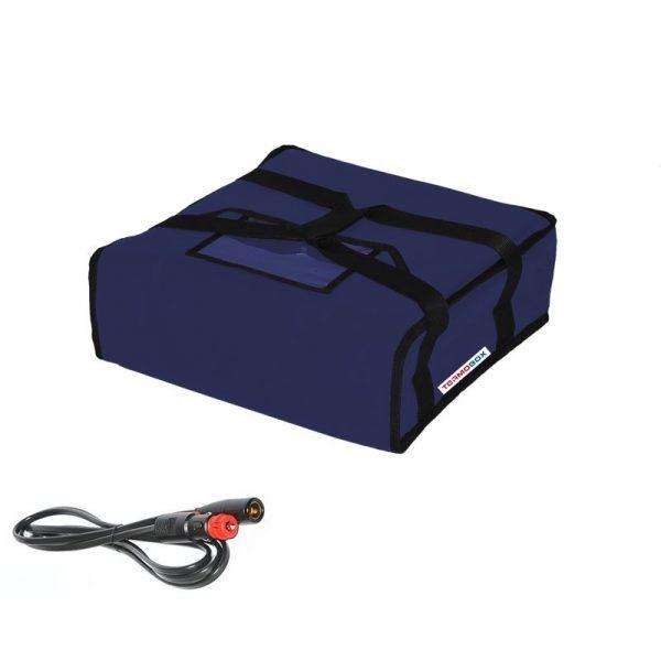 Pizza taška 35x35xc12 cm vyhřívaná modrá
