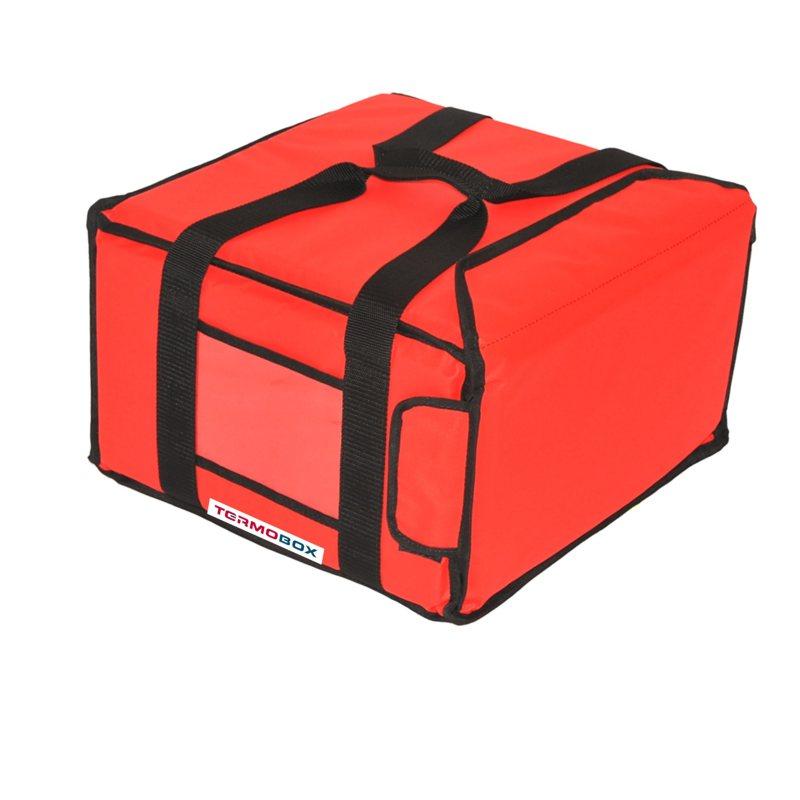Pizza taška 35x35x20 cm nevyhřívaná červená