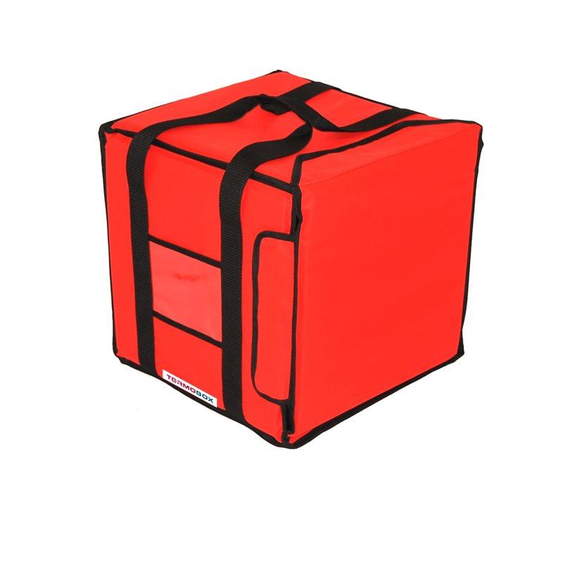Pizza taška 35x35x35 cm nevyhřívaná červená