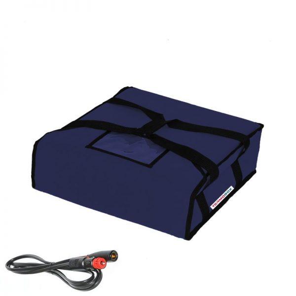 Pizza taška 40x40x12 cm vyhřívaná modrá