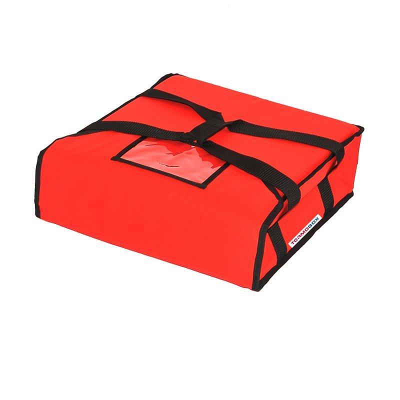 Pizza taška 45x45x12 cm nevyhřívaná červená