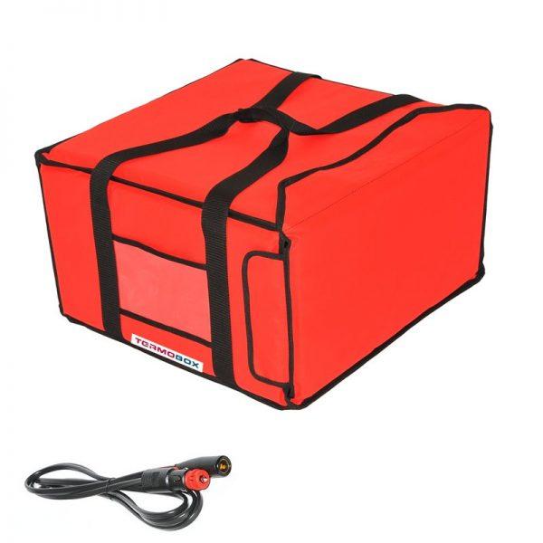 Pizza taška 45x45x25 cm vyhřívaná červená