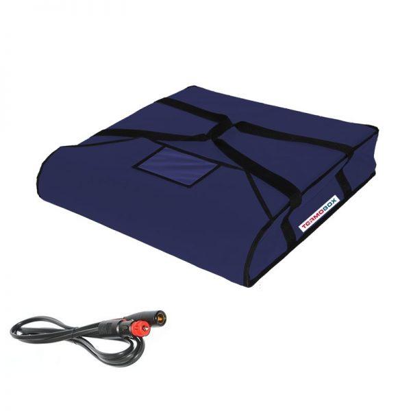 Pizza taška 50x50x12 cm vyhřívaná modrá
