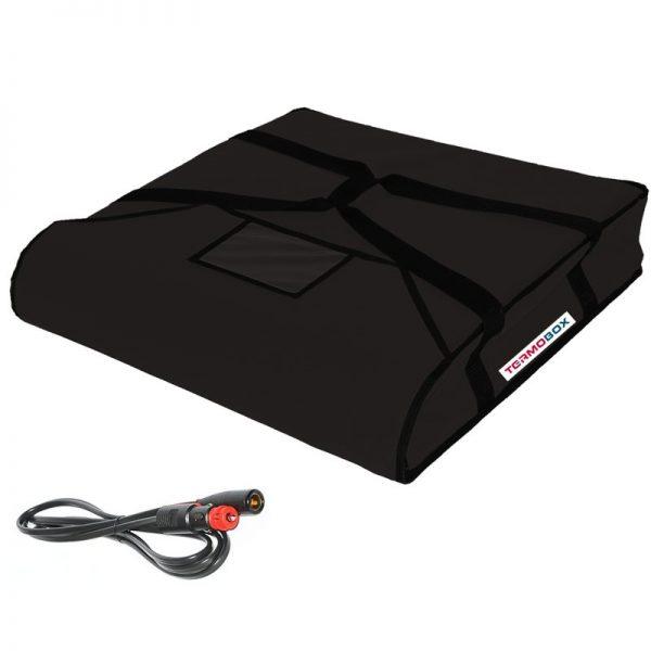 Pizza taška 60x60x12 cm vyhřívaná černá