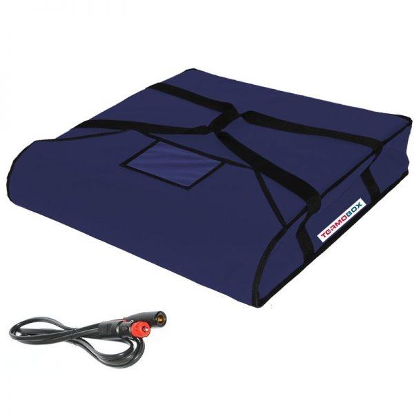Pizza taška 60x60x12 cm vyhřívaná modrá